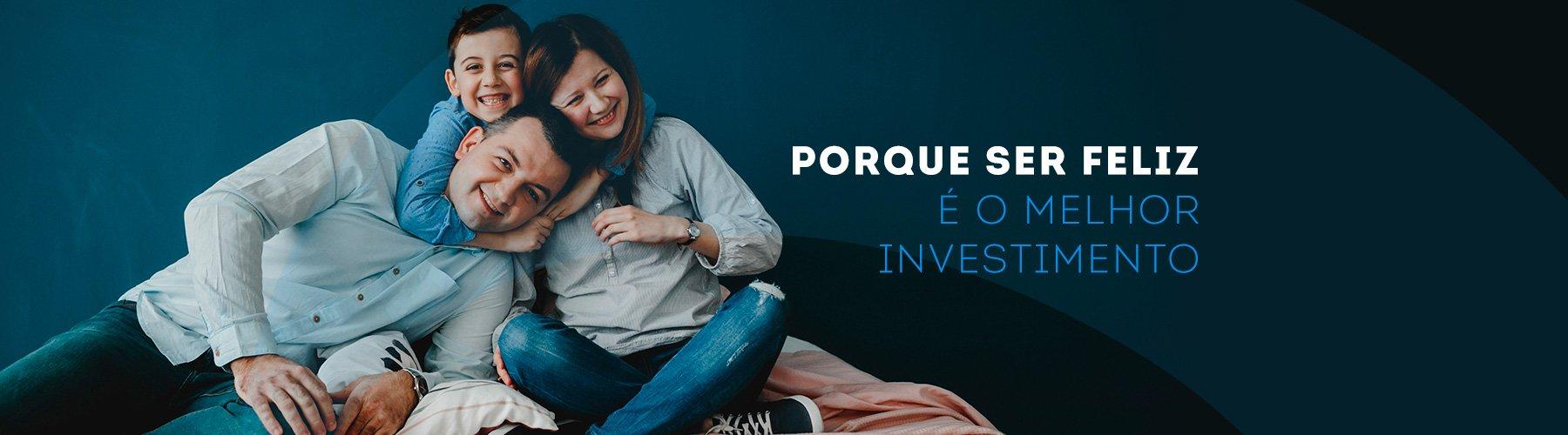 Banner Fento Slogan - Porque ser feliz é o melhor investimento